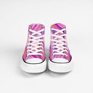 Boho Disco Collection: Unisex canvas beach fashion style shoes -liliac designed by Eldragonfly Barcelona