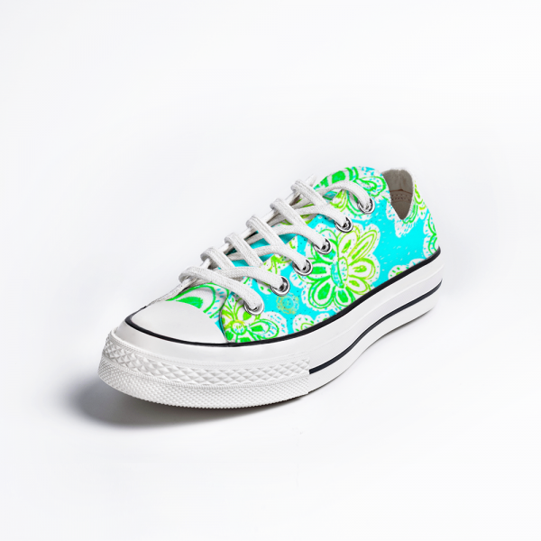Eldragonfly turquoise floral sneakers