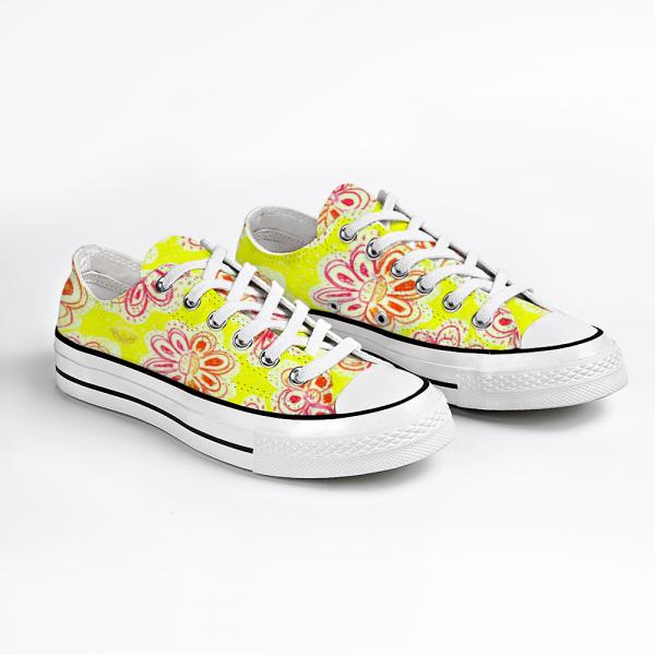 Eldragonfly Barcelona floral sneakers