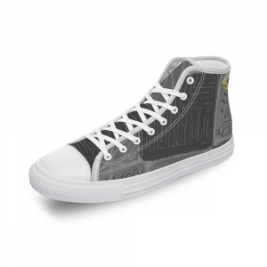 San Antoni Collection: Unisex ultimate gray tribal print canvas shoes- Design 4