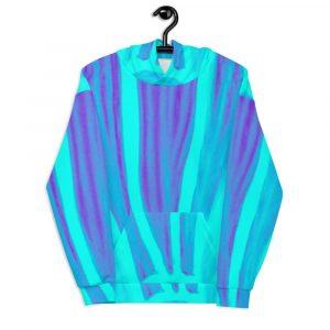 a Unisex beach blue Hoodie eldragonfly barcelona