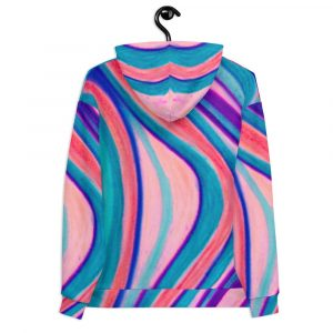 Valeria Collection: Barcelona beachstyle Unisex Multicoloured hoody designed bt eldragonfly barcelona
