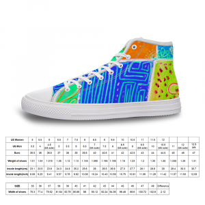 San Antoni Collection: Unisex technicolour tribal print canvas shoes- Design 2 designed in Barcelon Spain