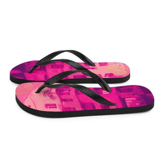 La Pedrera flip flops (rosa) exclusive design from Eldragonfly Barcelona