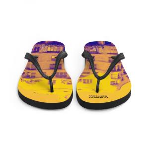 La Pedrera flip flops (amarillo) designed by eldragonfly barcelona