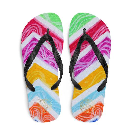 Barceloneta style flip flops (estilo de playa dos) designed by Eldragonfly Barcelona