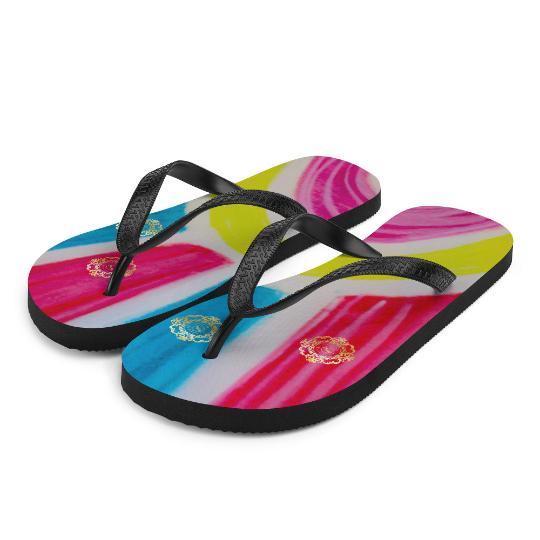 Playa de sol flip flops designed by eldragonfly barcelona