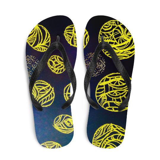 Fiesta de Palomor flip flops (diseño dos) designed by Eldragonfly Barcelona