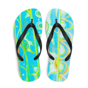 San Fran del Mar beach fashion flip flops designed by Eldragonfly Barcelona