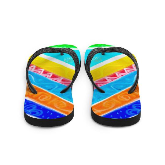 Barcelona Carnaval style flip flops ( designo uno )designed by eldragonfly Barcelona