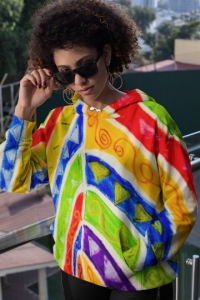 Tribal Collection: Barcelona beachstyle unisex hoodie designed by Eldragonfly Barcelona