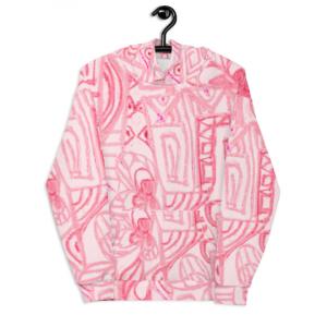 Graffitti pink hoody designed by Eldragonfly Barcelona