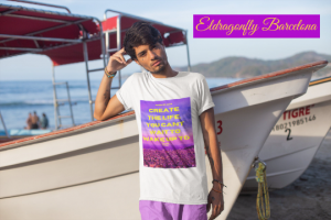 "Unisex T-Shirt with the quote "" create the life you want to "" designed by eldragonfly Barcelona"