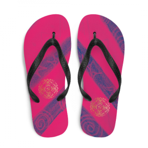 Barceloneta Flip-Flops ( Rosa oscuro) designed by eldragonfly Barcelona