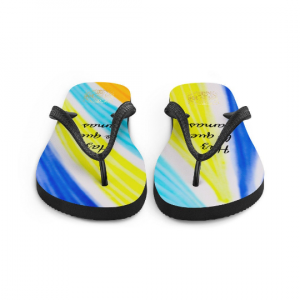 "San Alfonso flip flops "" Haz lo que amas"" ( Do what you love)designed by eldragonfly Barcelona"