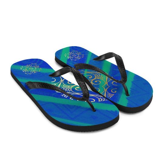 Barceloneta style Flip-Flops (azul mediterráneo) eldragonfly barcelona