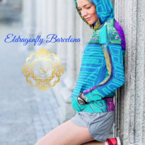 Selva de Mar Collection: Unisex beach fashion style hoody (XS-3XL) designed by Eldragonfly barcelona