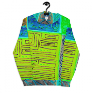 Selva del Mar Collection: Unisex beachstyle, boho hoody designed by eldragonfly Barcelona