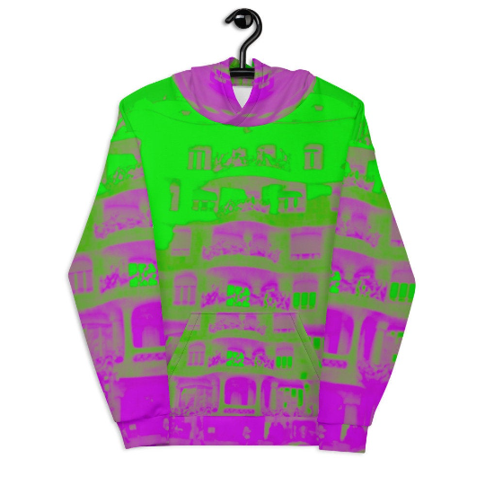Pedrera Collection: Barcelona city style, unisex Hoodie.