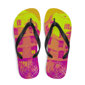 La Pedrera Flip-Flops, influencing a unique design from Eldragonfly Barcelona