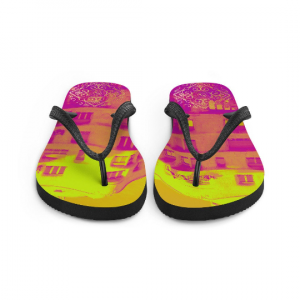 La Pedrera Flip-Flops, influencing a unique design from Eldragonfly Barcelona
