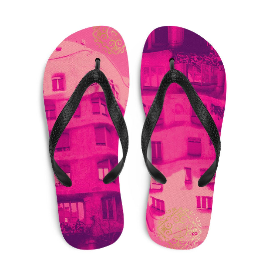 La Pedrera flip flops (rosa) exclusive design from Eldragonfly Barcelona
