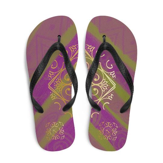 Barceloneta style Flip-Flops (verde y Morada) designed by eldragonfly Barcelona
