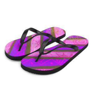Barceceloneta style Flip-Flops ( lilac ) designed by Eldragonfly Barcelona
