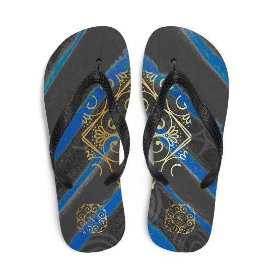 Barceloneta style Flip-Flops ( gris oscuro) eldragonfly barcelona