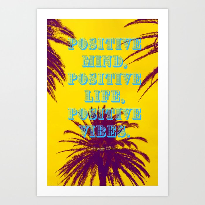 yellow beach vibe, art print, designed by eldragonfly barcelona