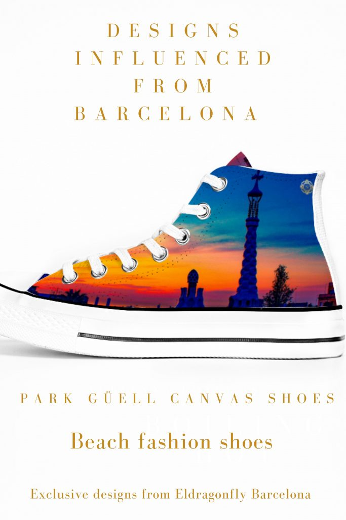 parc guell sneakers, designed by Eldragonfly Barcelona