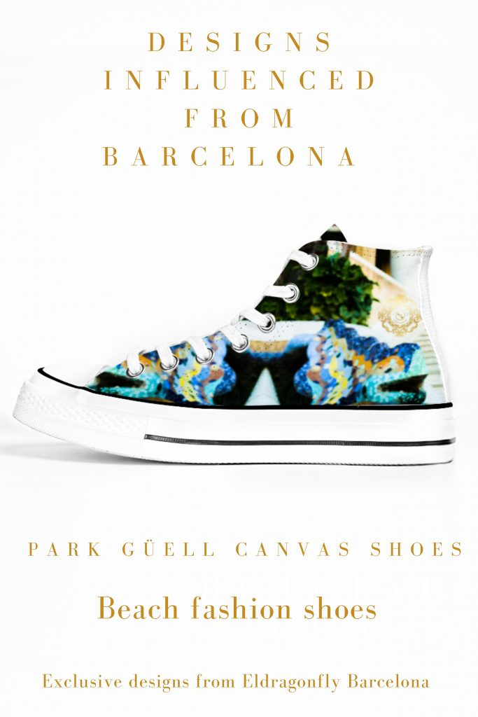 parc guell sneakers designed by eldragonfly barcelona