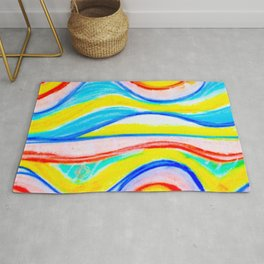 Barceloneta beach fashion Rug, designed by Eldragonfly Barcelona
