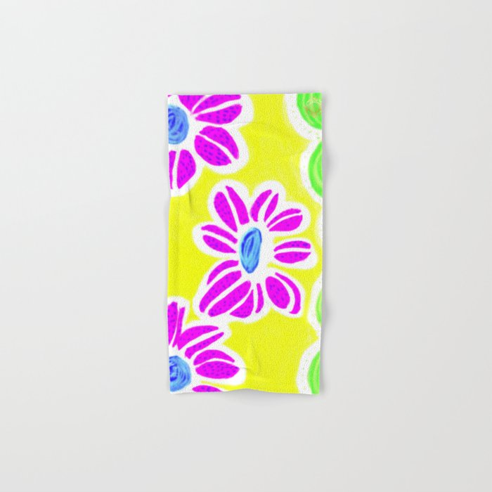 san pol yellow floral towel , designed by Eldragonfly Barcelona