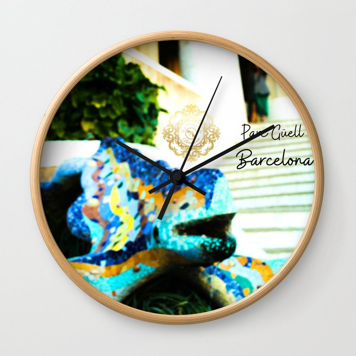parc-guell-barcelona-wall-clocks designed by Eldragonfly Barcelona