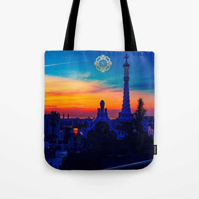 park guell tote bag, designed by eldragonfly barcelona