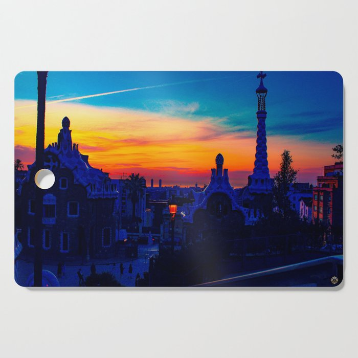 Parc Güell Cutting Board designed by eldragonfly Barcelona