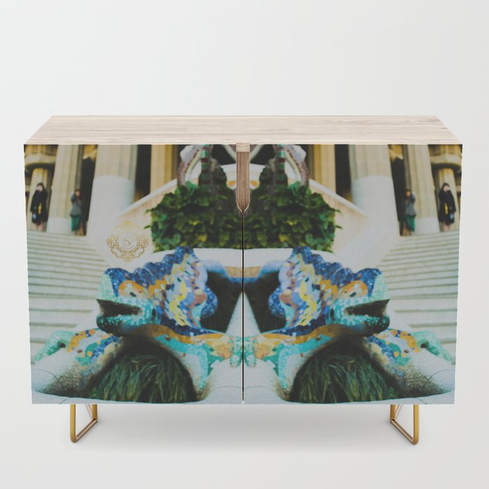 parc guel wooden cabinet, designed by Eldragonfly Barcelona