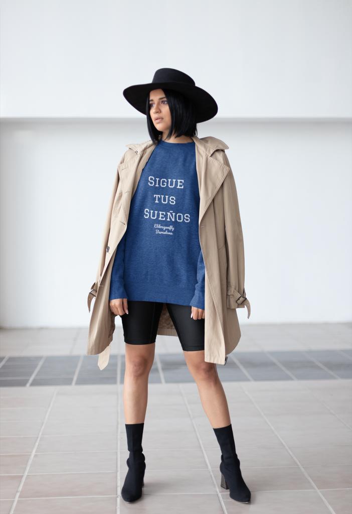 sigue tus sueños sweaters designed by eldragonfly barcelona