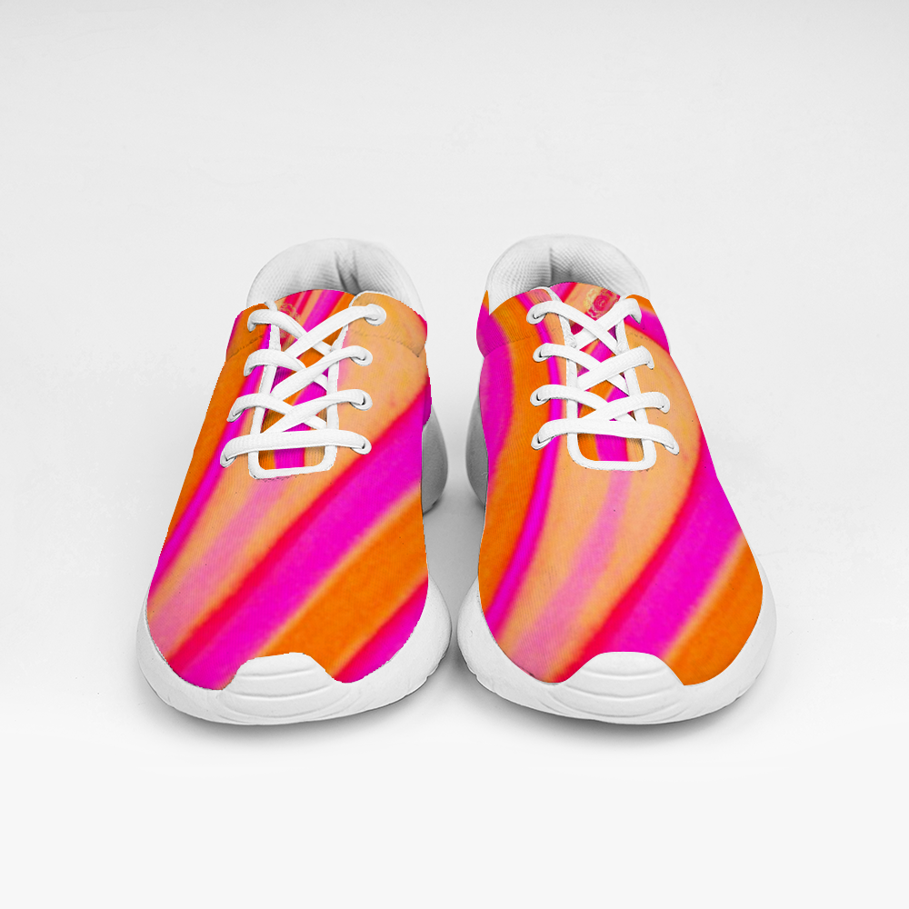 San Marti Collection: Pink Beachstyle vegan sneakers, with laces. designed by eldragonfly barcelona