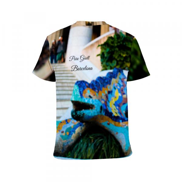 Parc Güell t shirt, designed by eldragonfly barcelona