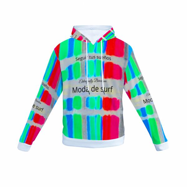 San Pol Mediteranean tribal surf pattern design hoody - design 1