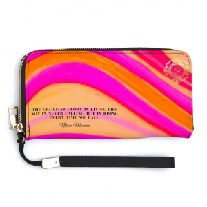 Clutch purse with a Nelson mandela quote , disigned by Eldragonfly Bartcelona