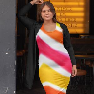 San Angel Dress: Colourful beachstyle fashion dress