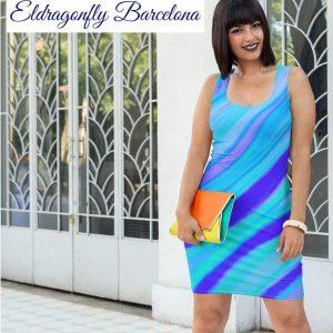 Marina Collection, surf and beach fashion dress, designe dby Eldragonfly Barcelona