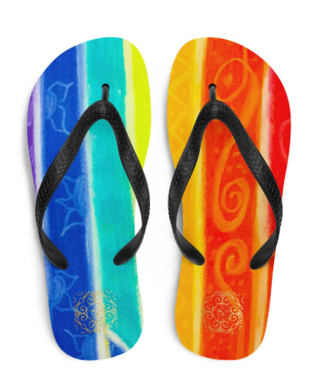 Plaza de la fiesta beach fashion flip flops ( diseño uno ) designed by Eldragonfly Barcelona